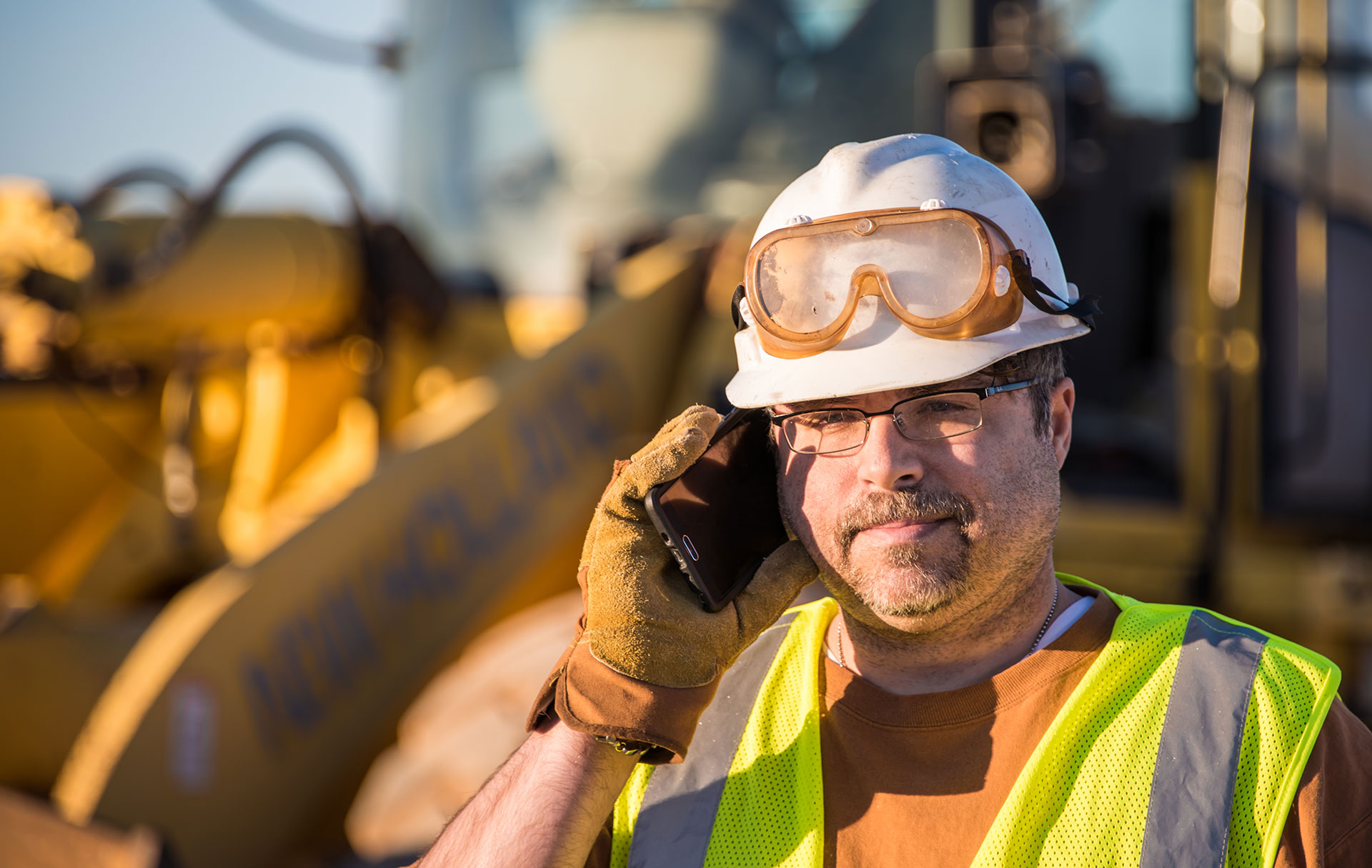 Site Worker on phone